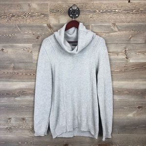 Market & Spruce Pacci Cowl Neck Gray Sweater